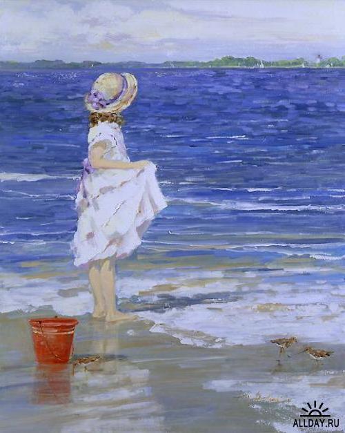 Дети на морском берегу, дети,