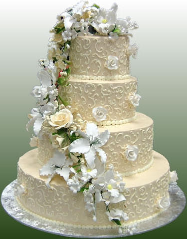 Wedding Cake with Flowers, цветы