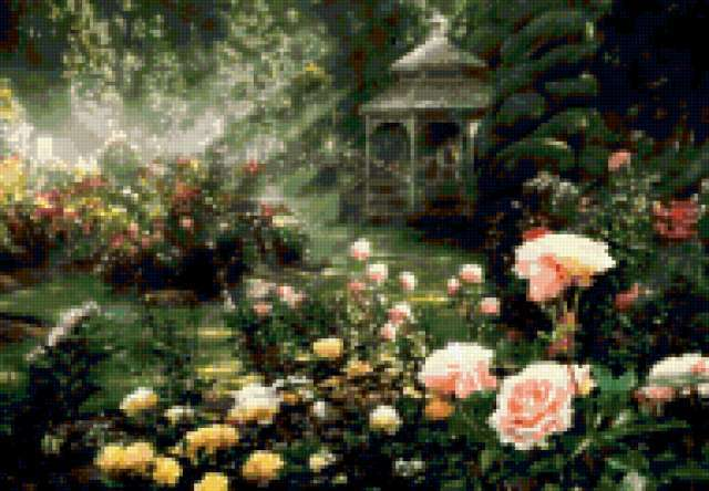Беседка в розах, предпросмотр