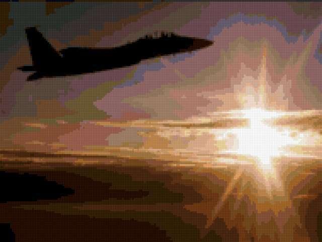 Самолет в небе, предпросмотр