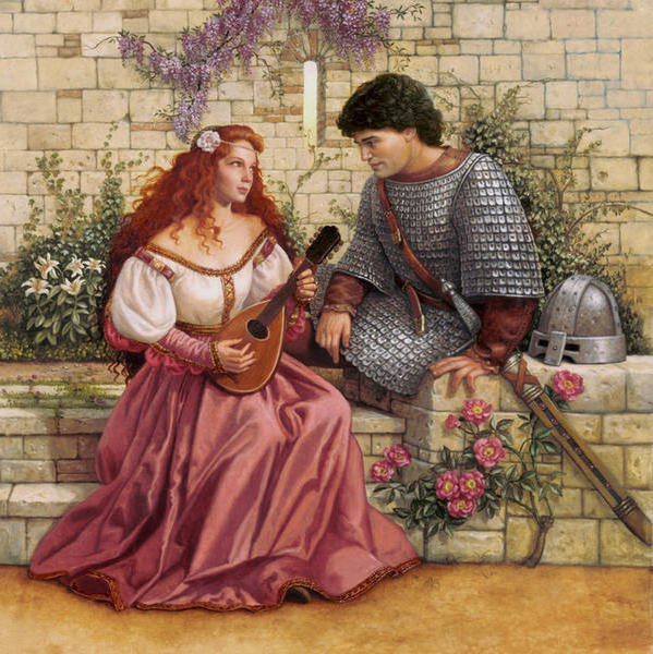 Рыцарь и дама, оригинал