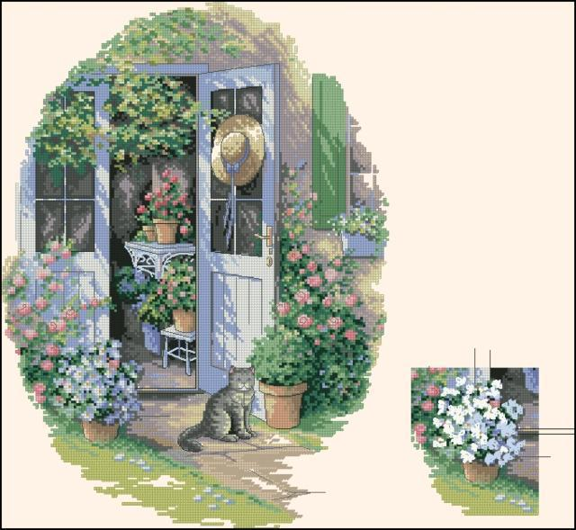 Цветущий зимний сад, оригинал