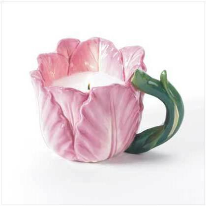 Flower Cup Candle, цветы, натюрморт