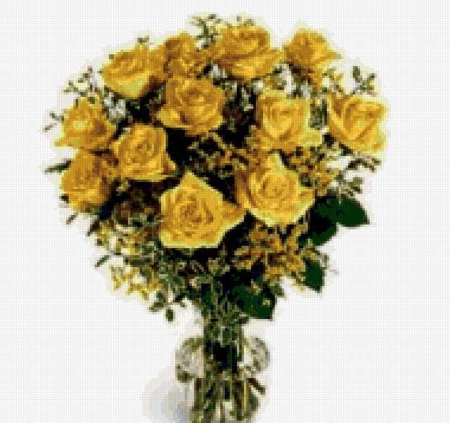 Желтые розы, предпросмотр