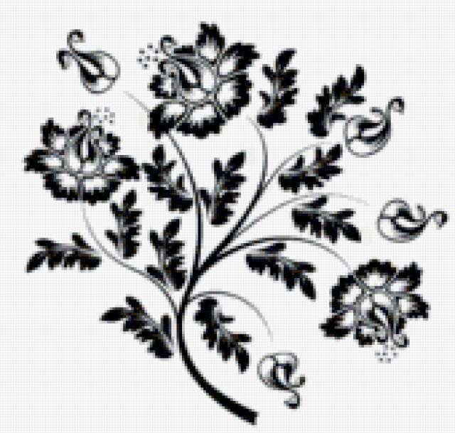Цветок ч/б, предпросмотр
