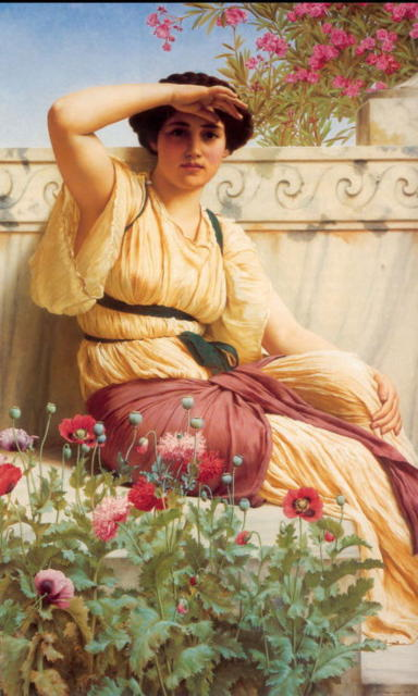 A Tryst, jhon william godward, искусство