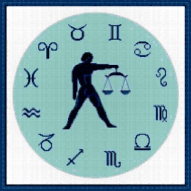Часы зодиак-весы, предпросмотр