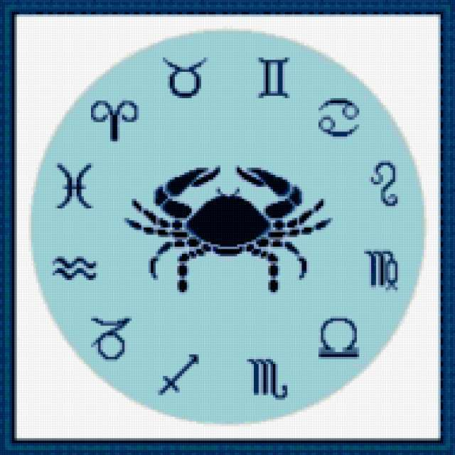 Часы зодиак-рак, предпросмотр
