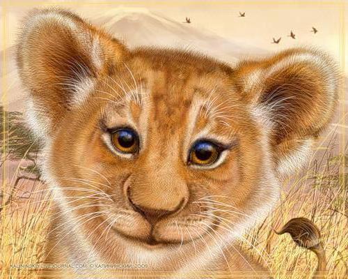Схемы вышивки львенок