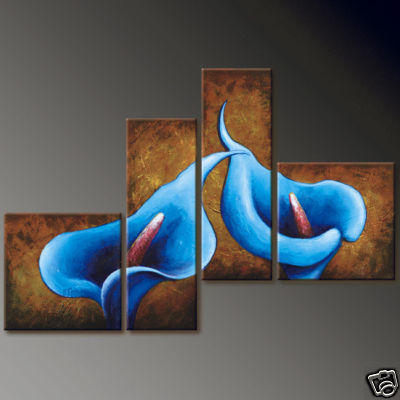 4 Canvases Abstract, цветы