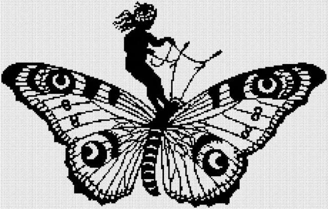 Girl and Butterfly, девушка