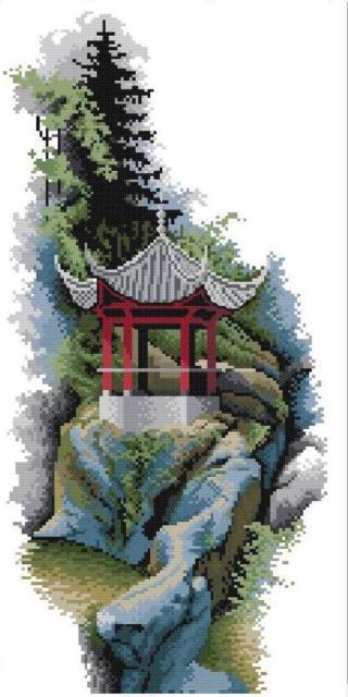 Пагода, восток, япония, пагода