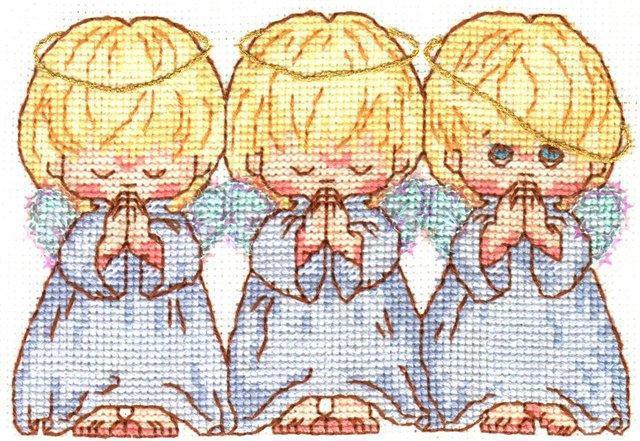 Три ангелочка, дети, ангел