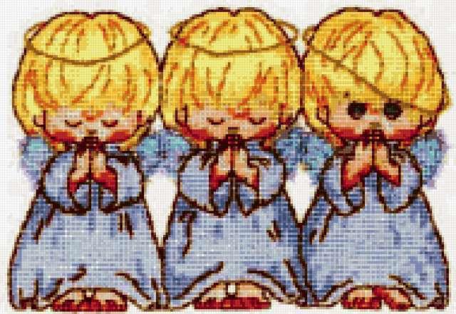 Фото вышивки три ангела