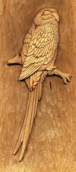 Wood Carving, птици