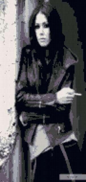 Вышивка Крестом Схемы Парень Девушка Черно-белые Двое