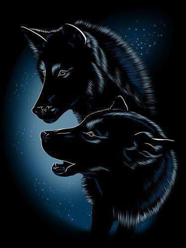 Два волка, оригинал