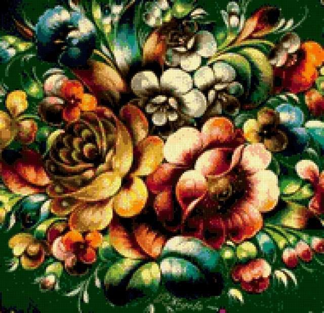 Схема вышивка крестом подушка с розами