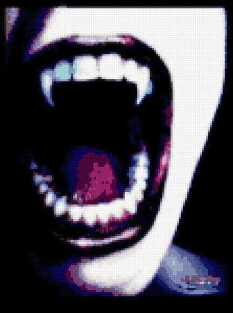 Оскал, вампир, оскал, зубы,