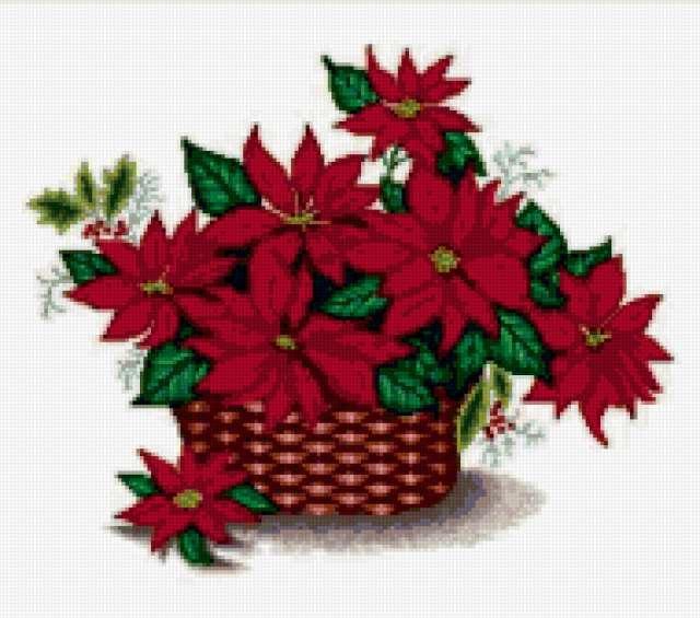 Цветы в корзине, предпросмотр