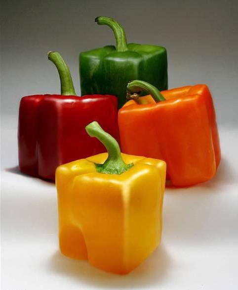 Квадратные перцы, овощи