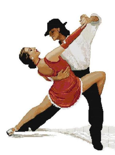 Танец страсти, пара, любовь,