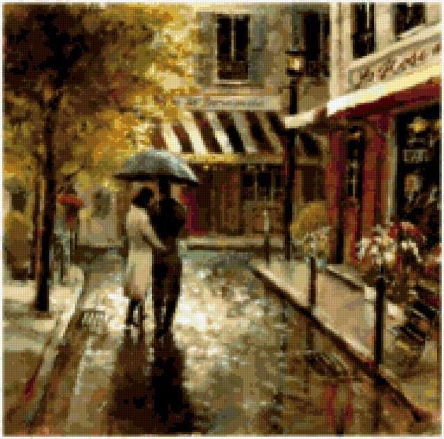 Двое под дождем, предпросмотр