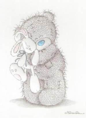 Мишка тедди с зайцем, оригинал