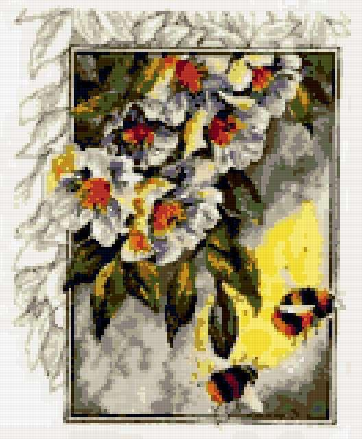 Цветы и пчелы, предпросмотр