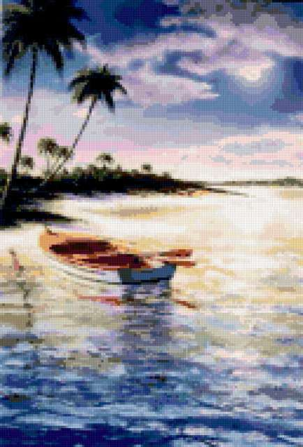 Лодка на воде, предпросмотр