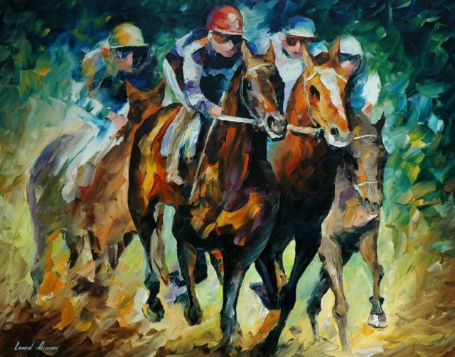 Бега, лошадь, человек, спорт