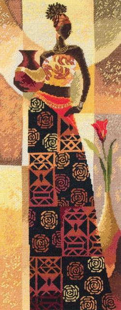 Вышивка крестиком африканка
