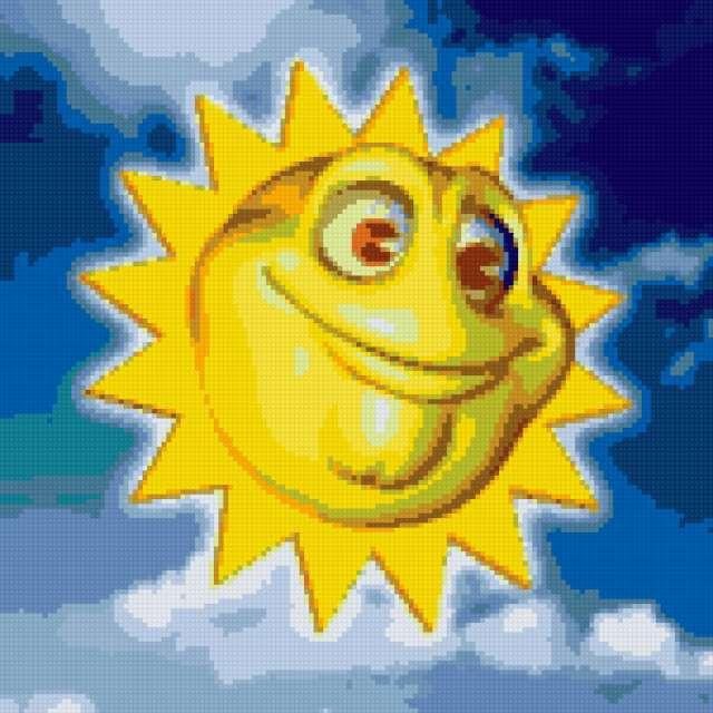 Подушка солнышко, предпросмотр