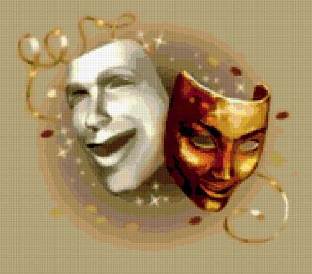 театральные маски фото