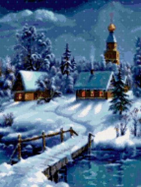 Церковь зимой, предпросмотр