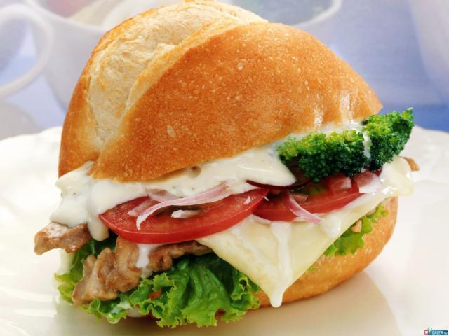 Бутерброд, продукты, хлеб