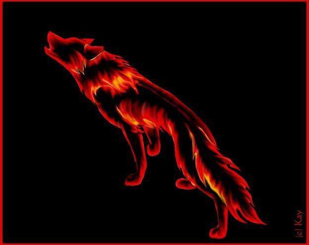 Волк-огонь, оригинал