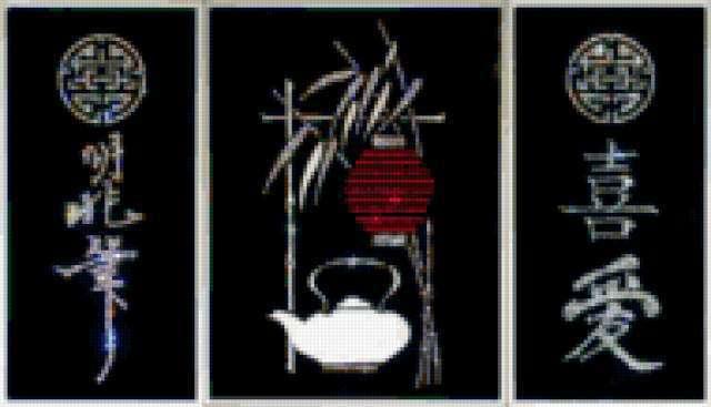 "Триптих ""Чайный домик"""