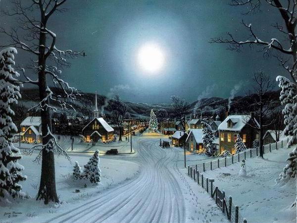 Зимняя деревня, деревня