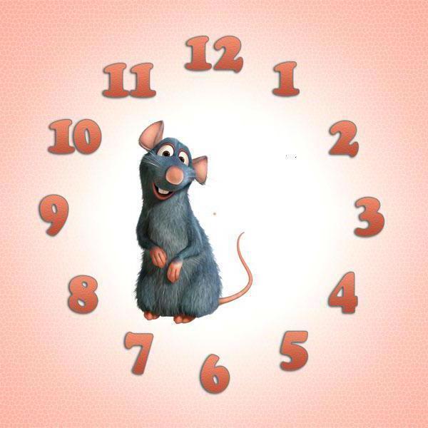 Часы рататуй, часы, для детей