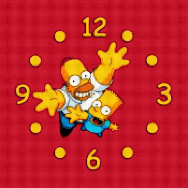 Часы симпсоны, часы, для детей