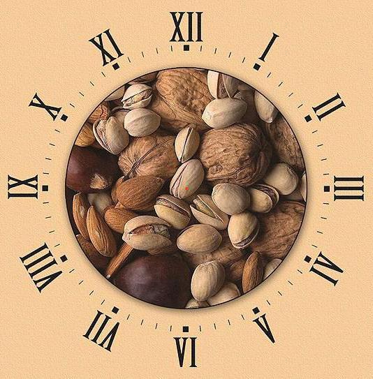 Часы орехи, оригинал
