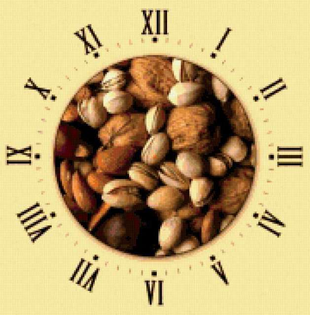 Часы орехи, предпросмотр
