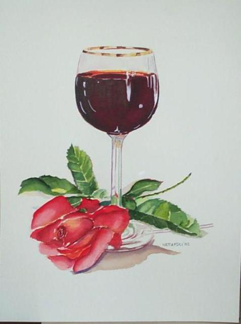 Wine and Rose, натюрморт