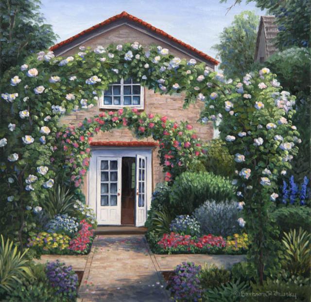 Цветочный дворик, оригинал
