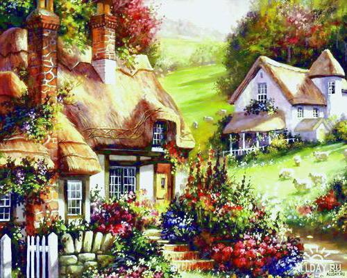 Сельский домик, домик, село,