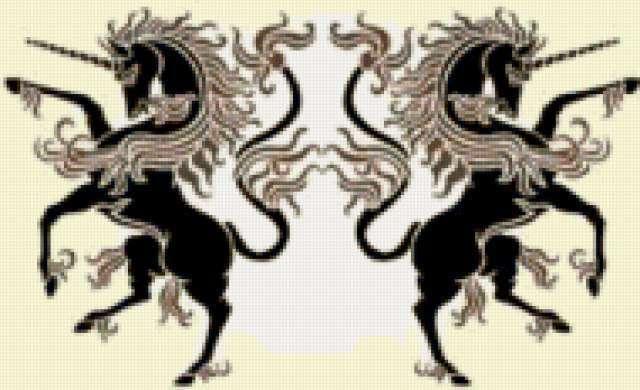 Единороги - гербовый символ ,