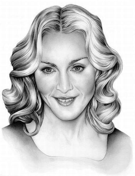 Мадонна 1, картина, рисунок,