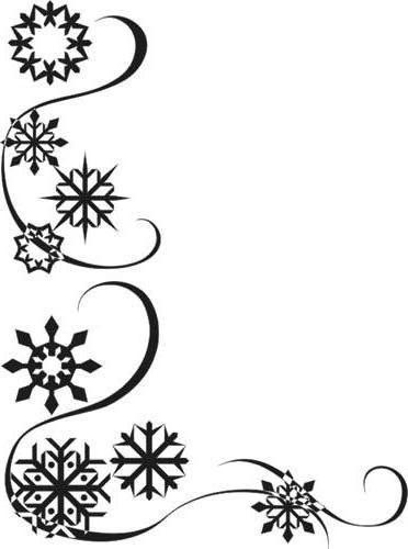 Снежинки, скатерть, монохром