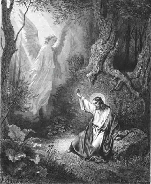 Иисус и ангел, картины,
